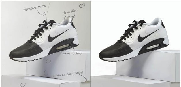 shoes image clipping path before and after