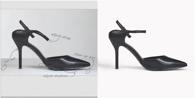 pointed shoes image clipping path