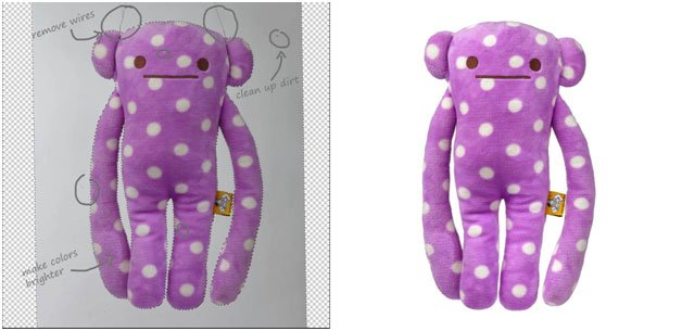 stuffed toy image clipping path before and after