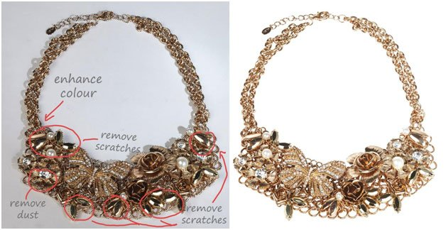 bracelet clipping path before and after