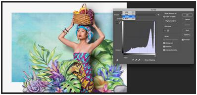 lighting adjustment using photoshop's curve tool