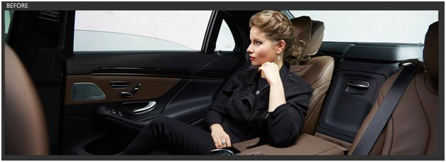 image of a lady inside a car