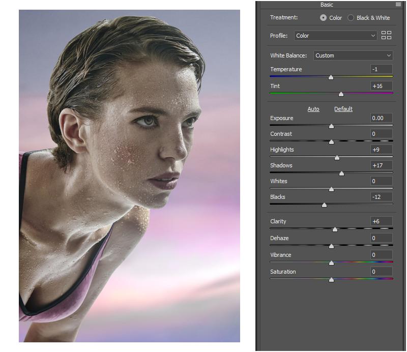reduced yellow cast through white balance adjustment on photoshop