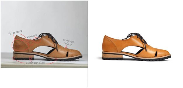 sandals image clipping before and after